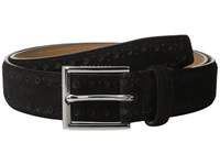 Cole Haan 32Mm Feather Edge Stitched Strap With Perforated Detail Black Men's Belts