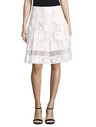 Elie Tahari Lauren Lace Skirt White