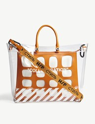 Heron Preston Off White Collaboration Medium Tote Bag Transparent