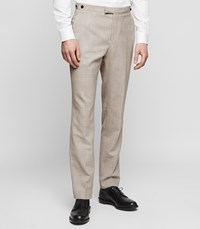 Reiss Rover T Modern Fit Wool Trousers In Champagne