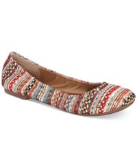Lucky Brand Emmie Flats Women's Shoes Turquoise Multi