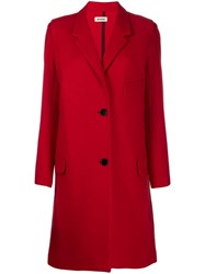 Zadig And Voltaire Single Breasted Coat Red