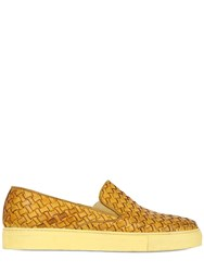 Calzoleria Toscana Hand Woven Leather Slip On Sneakers