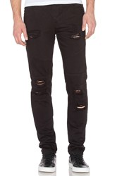 Stampd Distressed Panel Denim Black