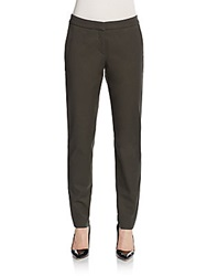 Hugo Boss Tejuta Stretch Cotton Trousers Khaki Green