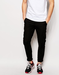 Asos Skinny Trousers With Cargo Details Black