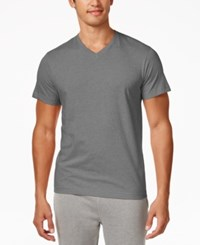 Alfani Men's V Neck Undershirts 4 Pack Only At Macy's Lt Grey Heather