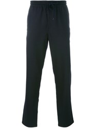 Barena Drawstring Straight Leg Trousers Blue