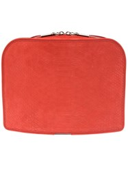 Maison Martin Margiela Paneled Square Clutch Red