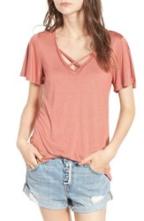 Pst By Project Social T Women's Cross Front Tee Terracotta