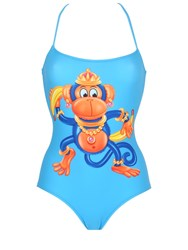 Moschino Monkey Printed Lycra Bathing Suit
