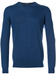 Loro Piana Long Sleeved Sweater Men Cashmere 52 Blue