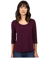 Mod O Doc Slub Jersey 3 4 Sleeve Scoopneck Tee Spiced Plum Women's Long Sleeve Pullover Purple