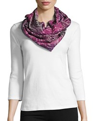Lord And Taylor Patterned Infinity Loop Scarf Purple