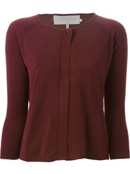 L'autre Chose Cropped Cardigan Red