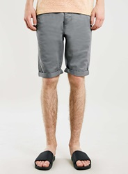 Topman Grey Longer Length Chino Shorts