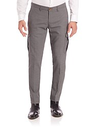 Eleventy Wool Cargo Pants Grey