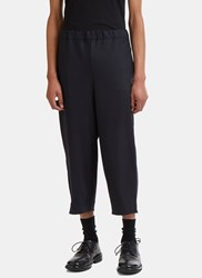 Marvielab Cropped Wide Leg Pants Navy
