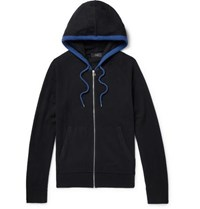 Joseph Contrast Tipped Cashmere Zip Up Hoodie Black
