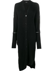 Ann Demeulemeester Oversized Ribbed Cardigan Black