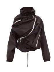 Y Project Upside Down Technical Rain Jacket Black