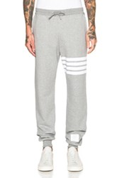 Thom Browne Cotton Sweatpants In Gray