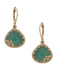 Lonna And Lilly Crystal Drop Earrings Green