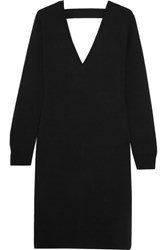 Proenza Schouler Cutout Merino Wool Blend Dress Black