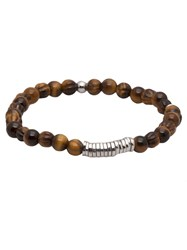 Tateossian Tigereye Disc Bracelet Brown