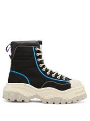 Eytys Akira High Top Canvas Trainers Black White