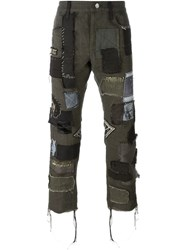 Heikki Salonen Fully Patched Cropped 5 Pocket Jean Green
