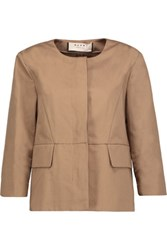 Marni Cotton And Linen Blend Jacket Tan