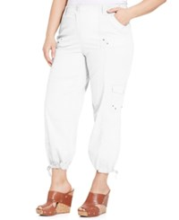 Styleandco. Style And Co. Plus Size Cargo Capri Pants Bright White