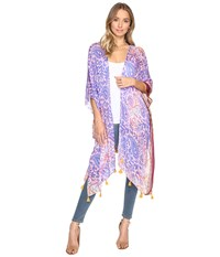 Bindya Paisley Kimono Purple Women's Clothing
