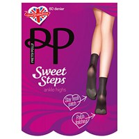 Pretty Polly Sweet Steps Ankle Socks Pair Of 1 Black
