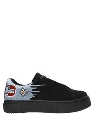Eytys Smey Embroidered Suede Platform Sneakers