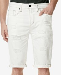 Buffalo David Bitton Men's Parker Slim Fit Jean Shorts White
