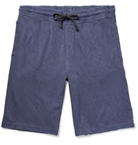 James Perse Garment Dyed Loopback Supima Cotton Jersey Shorts Blue