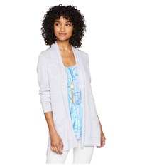 Lilly Pulitzer Ariela Cardigan Pearly Purple Sweater White