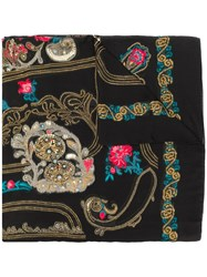 Etro Embroidered Scarf Black