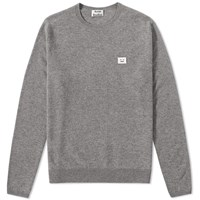 Acne Studios Dasher Face Crew Knit Grey