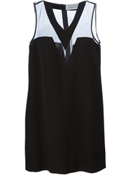 Gianluca Capannolo Mesh Panel Dress Black