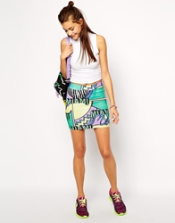 Illustrated People Miami 80 Body Conscious Skirt Multi
