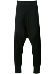 Nil0s Elasticated Drop Crotch Trousers Black