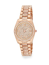Catherine Malandrino Rose Goldtone Pave Bracelet Watch