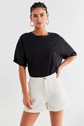 Urban Outfitters Uo Marie High Rise Jacquard Short White