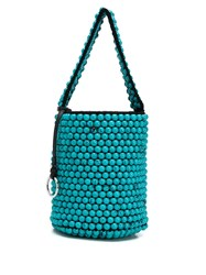 Jil Sander Beaded Top Handle Bucket Bag 60