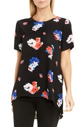 Vince Camuto Women's High Low Floral Blouse