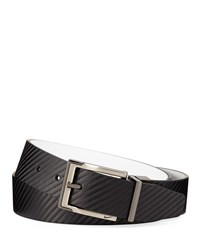 Nike Reversible Carbon Fiber Textured Belt Black White