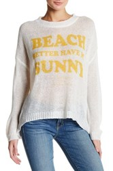 The Laundry Room Beach Bummies Sweater White